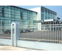 会展中心外围钢质护栏